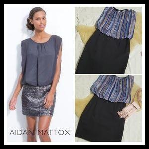 Aidan Mattox Blouson Dress